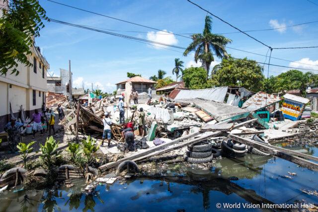 Earthquake and water damage in Haiti