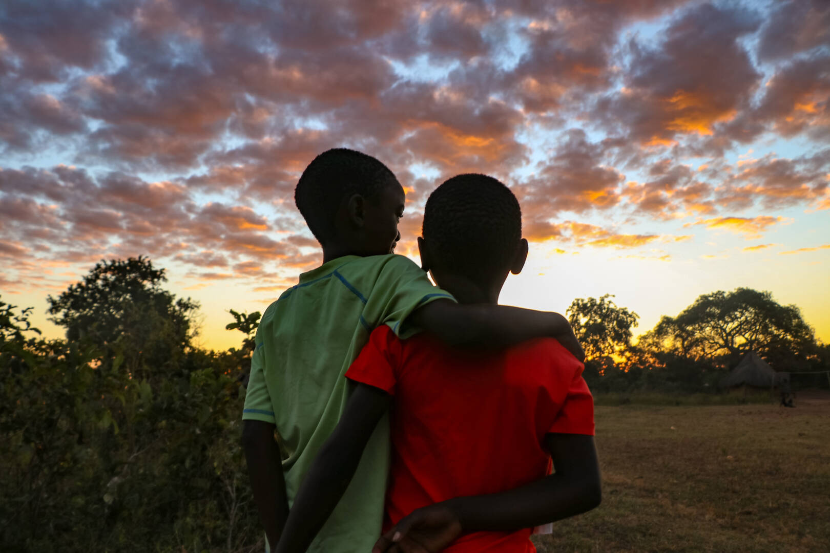 Brothers Francis and Billy gaze into a brighter future thanks to World Vision's Gift Catalog goats that have transformed their family's lives.