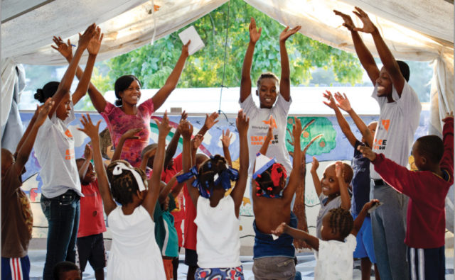 Cover image from the final, 3-year-report on World Vision relief and recovery activities following the massive earthquake in Haiti.