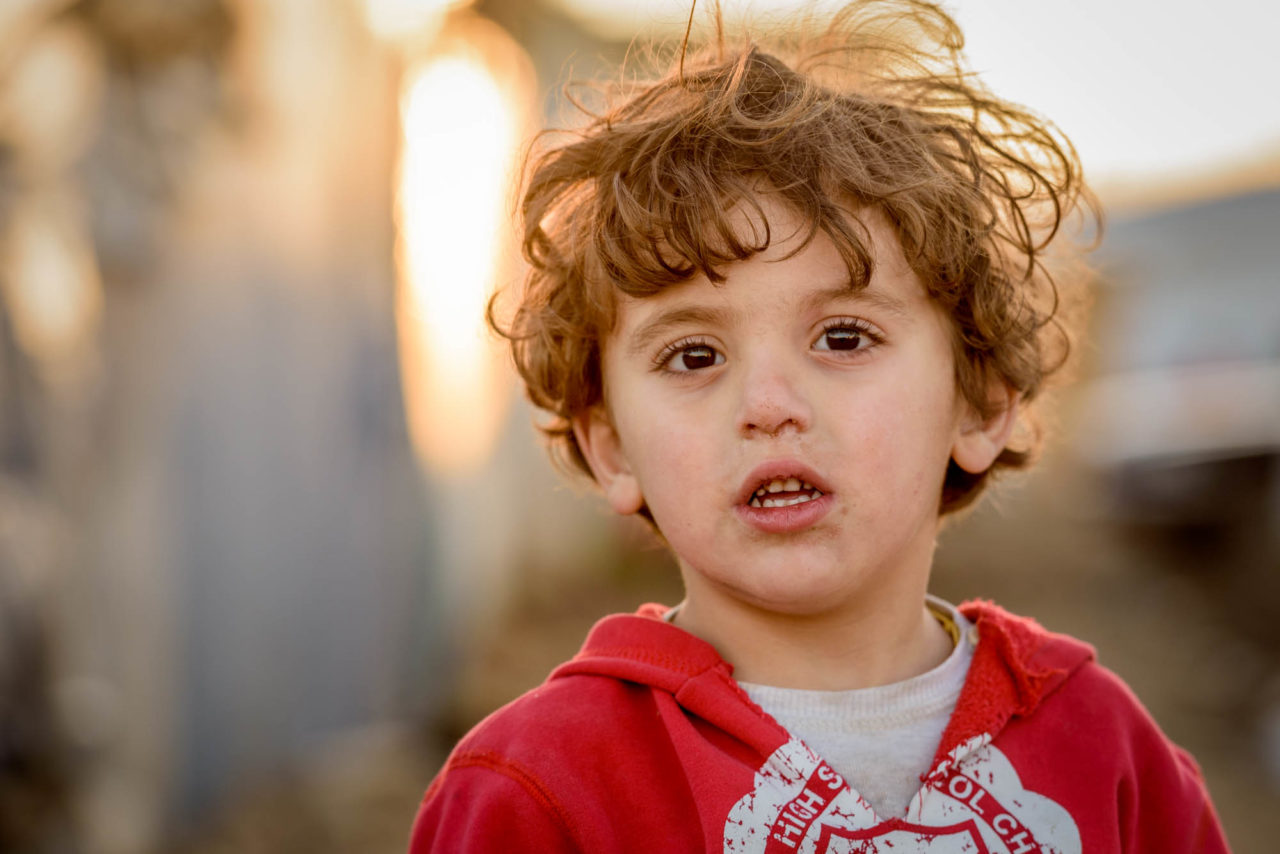 3-year-old boy orphaned by war in Syria