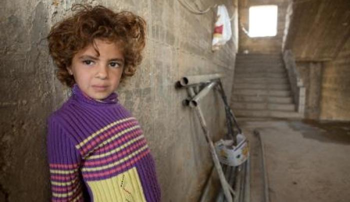 Abiya, 6, and her family were forced to flee Syria after her father was killed in the conflict.