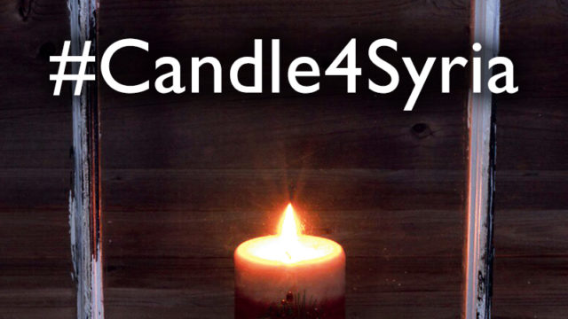 #Candle4Syria - Light a candle for Syria.