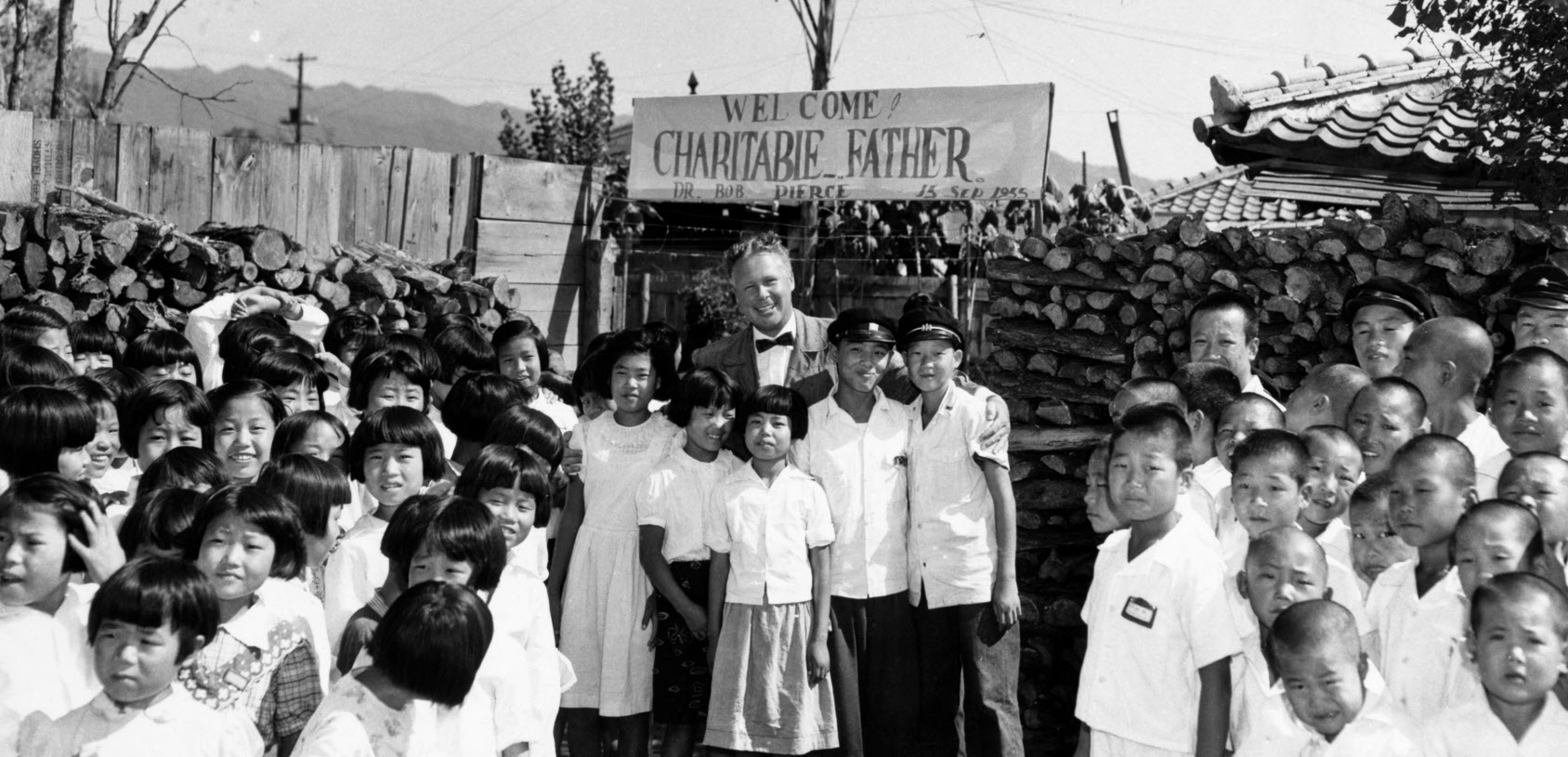 World Vision supports an orphanage built by General Paik in South Korea in 1955. World Vision founder, Bob Pierce, talks about New Year's resolutions on a December 1959 radio broadcast.