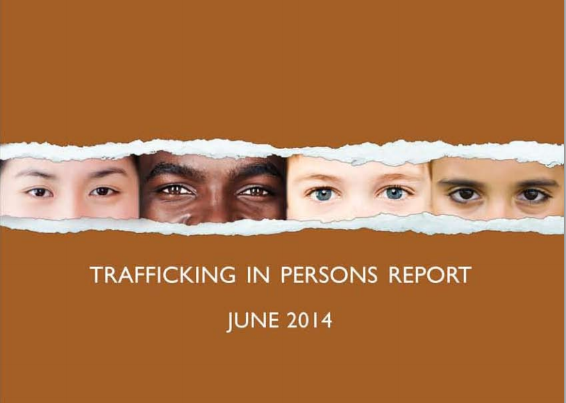 An image from the State Department's 2014 Trafficking in Persons report. Cover image.