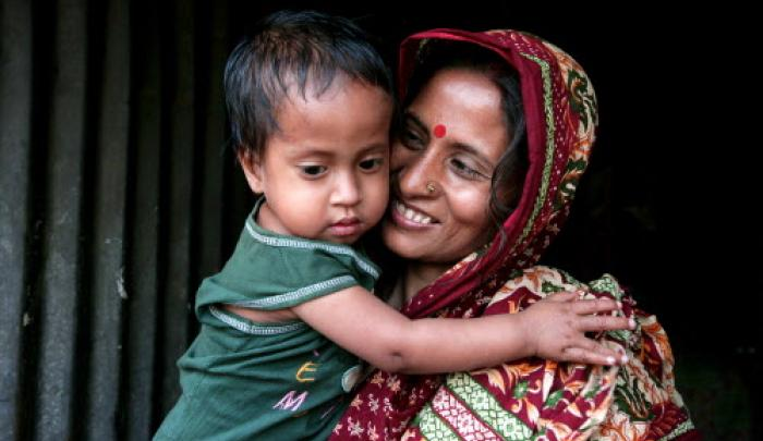 Three-year-old Ajoy is malnourished, and his father's salary as a tailor only provides enough money each month to buy poor quality vegetables and rice.