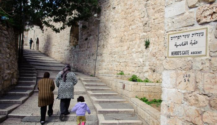 Scene from the Old City, Jerusalem. PHOTO: Jon Warren / World Vision