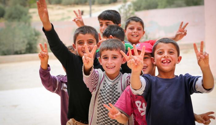 Refugee children at World Vision program in Jordan