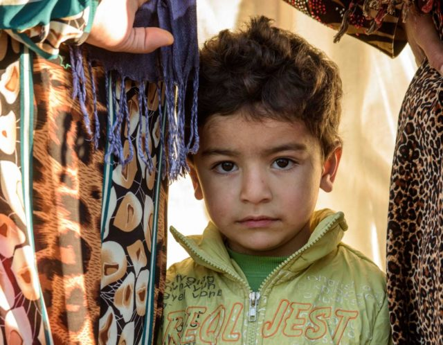 Syrian refugee, little boy