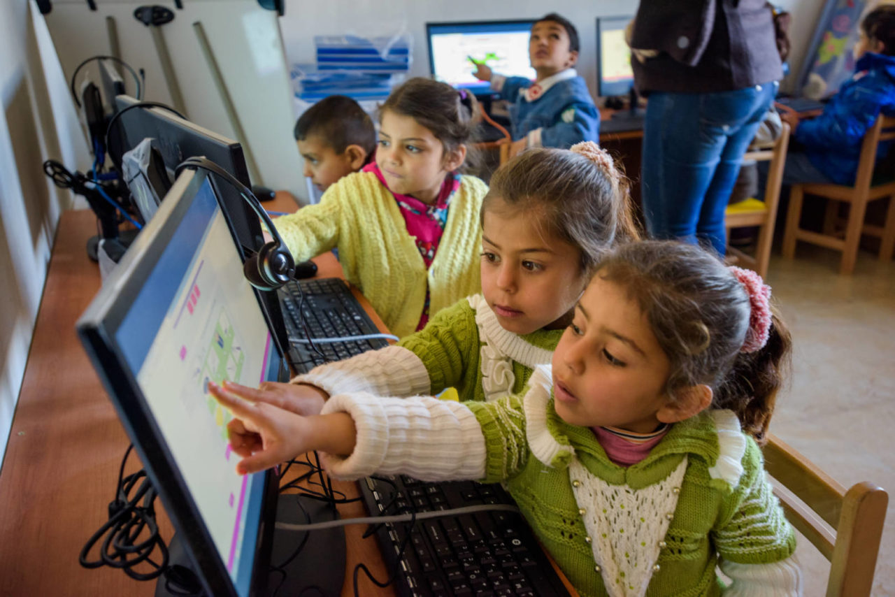 Meaningful screen time for Syrian refugee children in Lebanon.