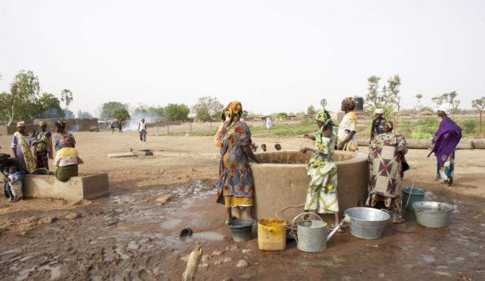 Women fetch water from a World Vision well in Mali. PHOTO: Steve Kay/World Vision