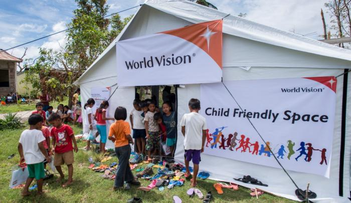 World Vision launched its first Child-Friendly Spaces associated with its Typhoon Haiyan response on Nov. 20 at Tabugon in northern Cebu.