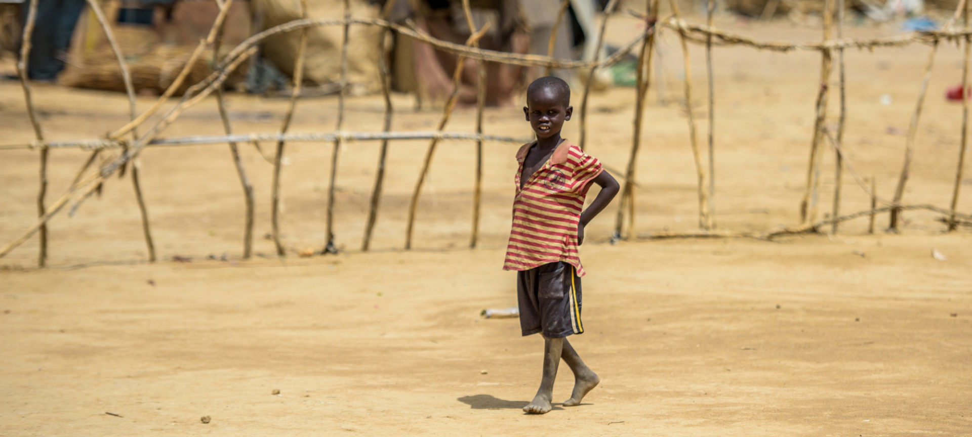Boy in IDP camp, Twic, Warrup State, South Sudan.