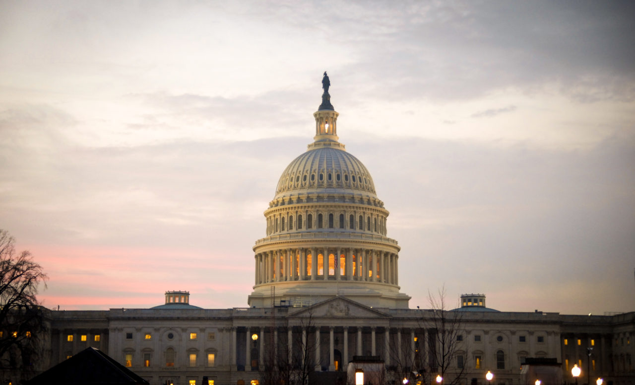 The Capitol Building at sunset.