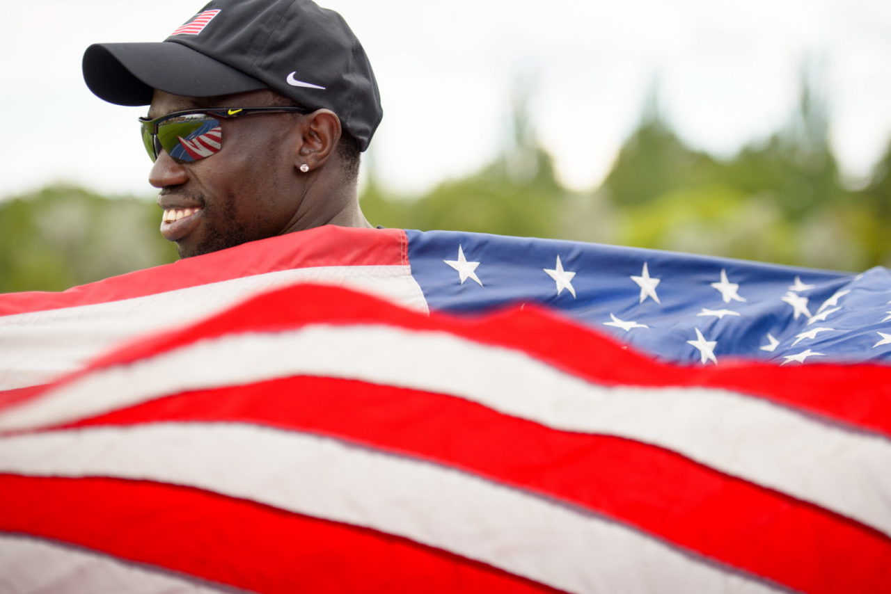 Lopez Lomong is a former 5,000-meter Olympic runner for the U.S. and a former South Sudanese 'lost boy' and refugee in Kenya.