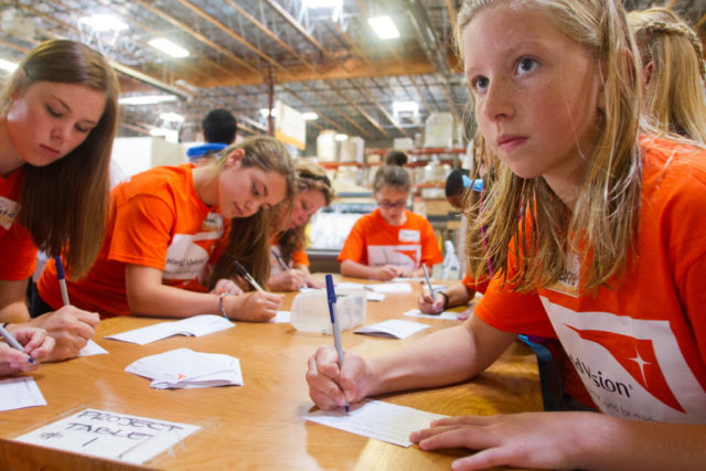 Teens volunteer with World Vision