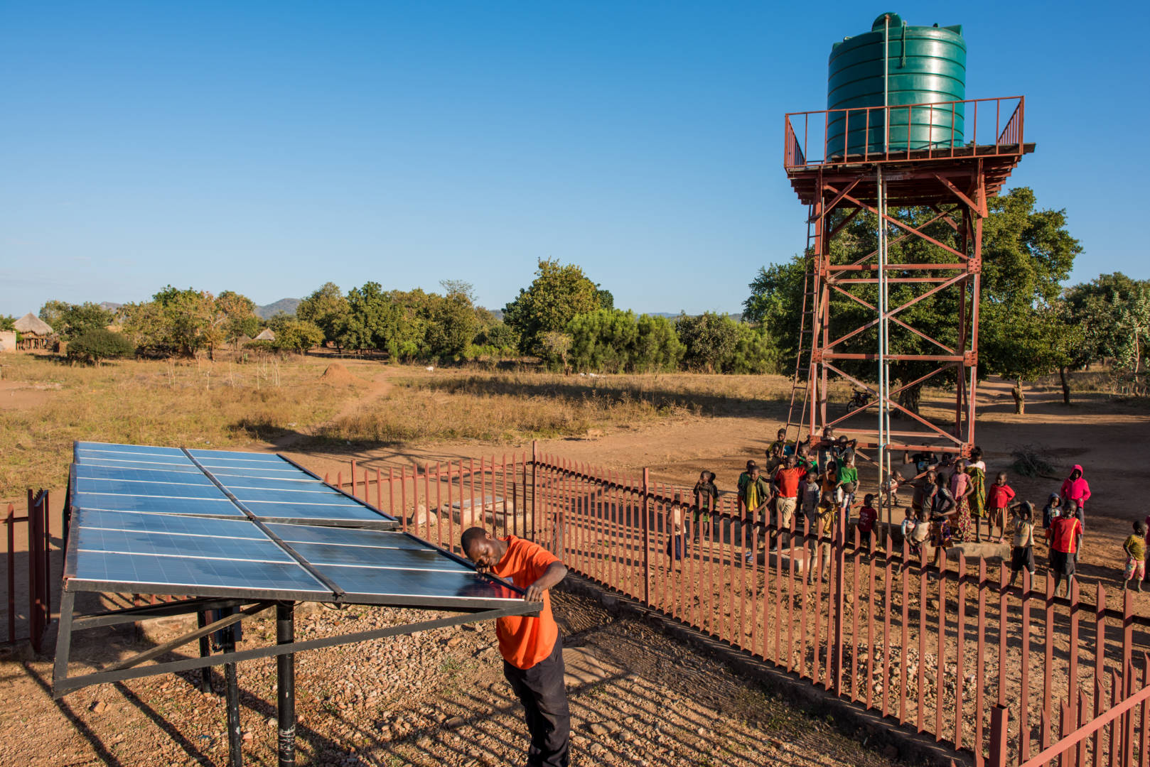 World Vision is the largest nongovernmental provider of clean drinking water in the developing world, and we've teamed up with the Grundfos — the largest maker of water pumps in the world — in order to provide clean water to millions of people in sub-Saharan Africa using solar-powered water pumps.