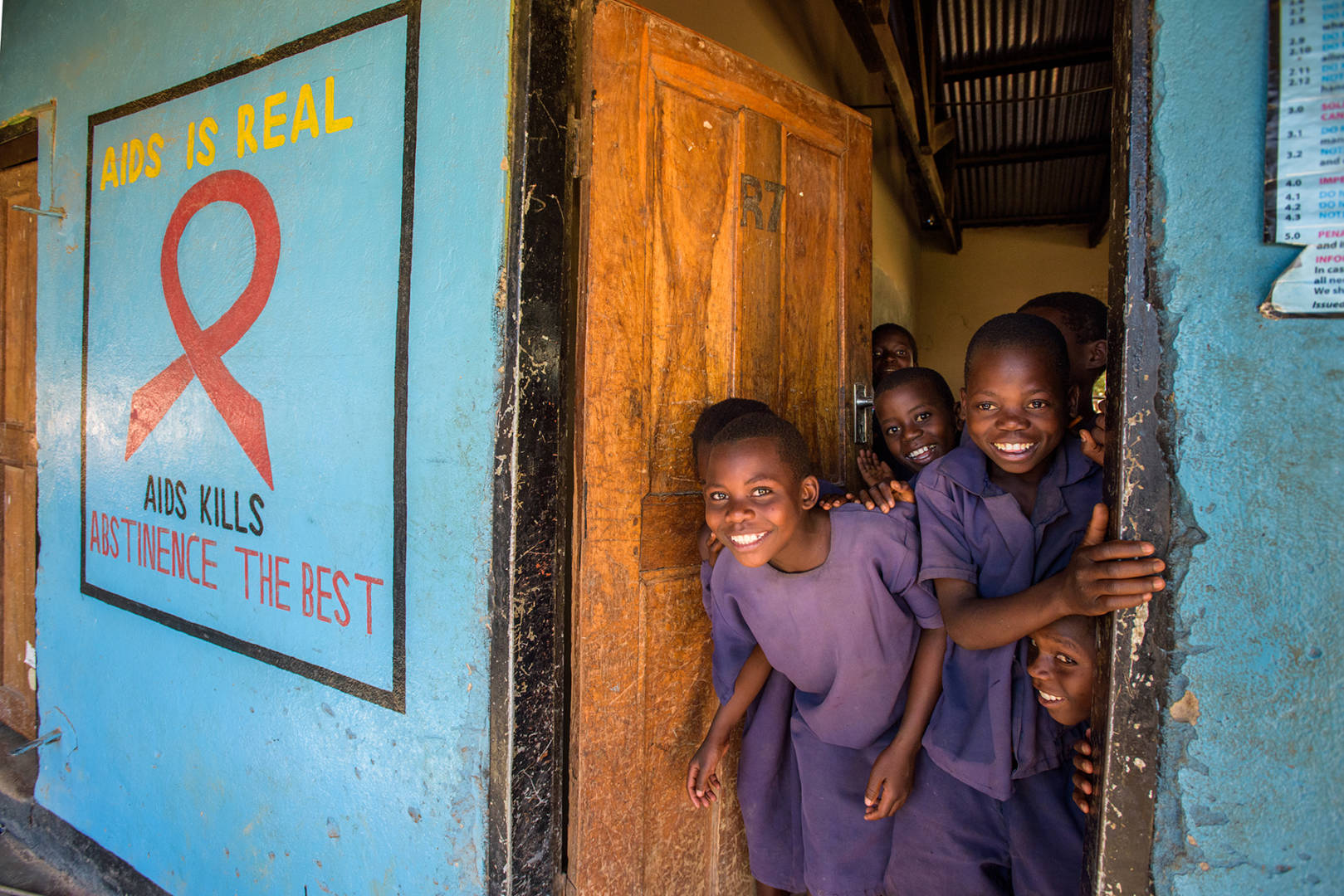 Children have hope for a better future because of HIV testing and anti-retroviral treatment.
