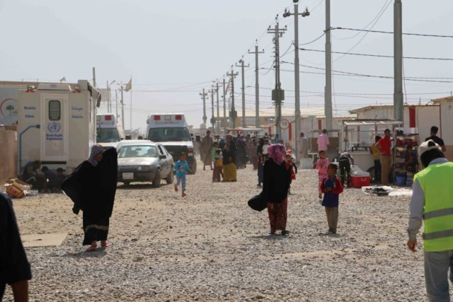 Debaga camp in northern Iraq is home to families displaced by violence in Mosul