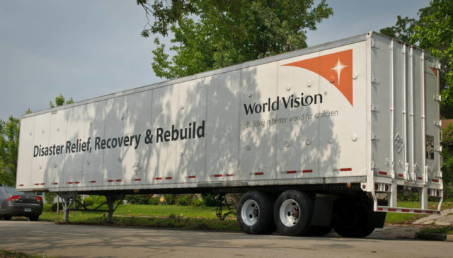 World Vision relief supplies for flooding survivors arrive in south Louisiana