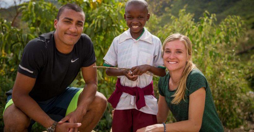 Eatons and sponsored child in Kenya ©2016 World Vision, Lindsay Minerva