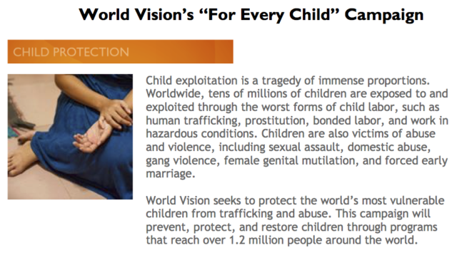 World Vision seeks to protect the world's most vulnerable children from trafficking and abuse. PHOTO: World Vision