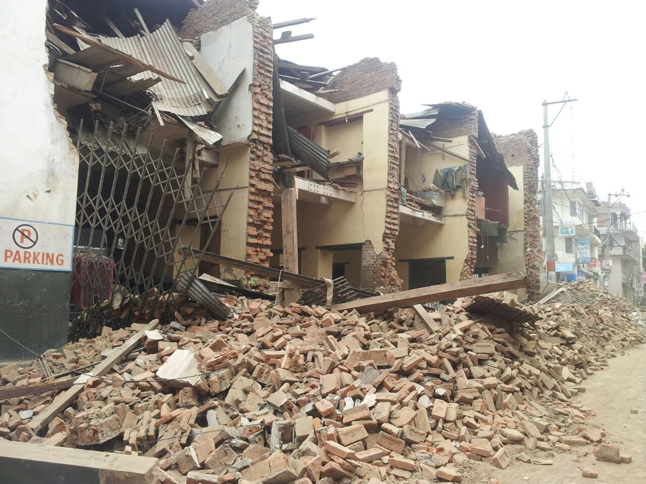 Buildings collapsed and hundreds are dead in Nepal after a 7.8 magnitude earthquake struck Saturday. PHOTO: World Vision