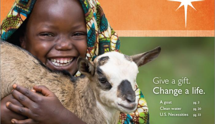 "2015 World Vision Gift Catalog ""Cover Girl"""