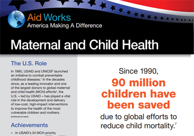 InterAction factsheet on maternal and child health (PDF)
