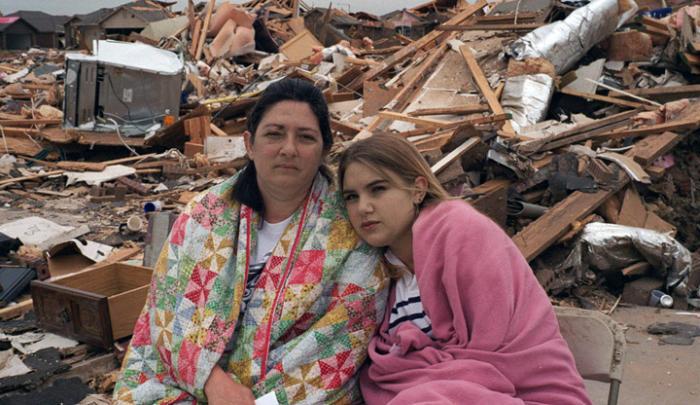 Oklahoma City tornado damage.