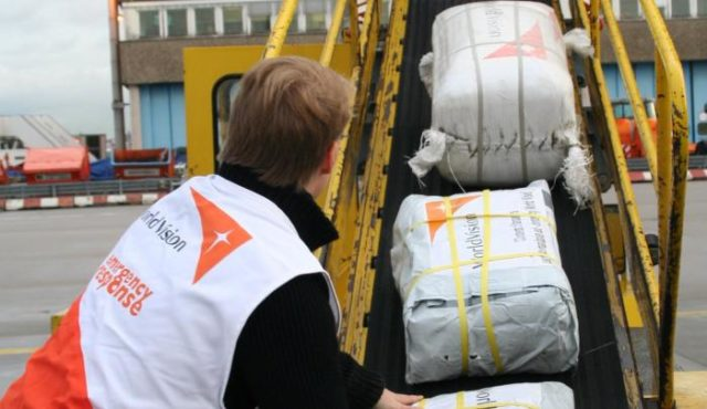 World Vision's first relief flight loaded with critical emergency supplies