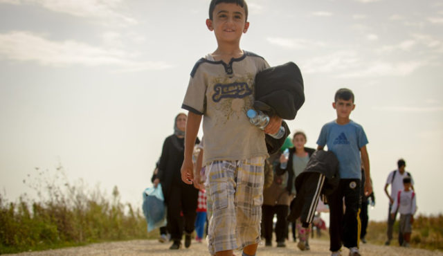 Syrian refugees arrive by the busload in Europe. PHOTO: World Vision / Laura Reinhardt