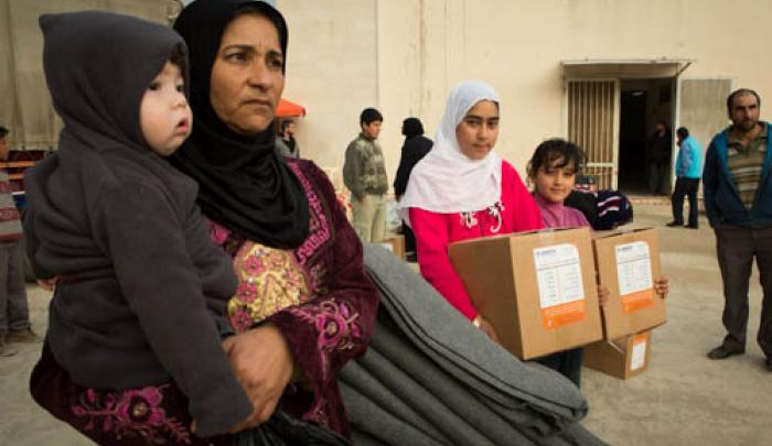 In partnership with UNHCR, World Vision supplied blankets, hygiene kits, and baby kits to Syrian refugees in Bekaa Valley, Lebanon. WV also gave people e-vouchers to buy what they need for winter, like blankets or a stove.