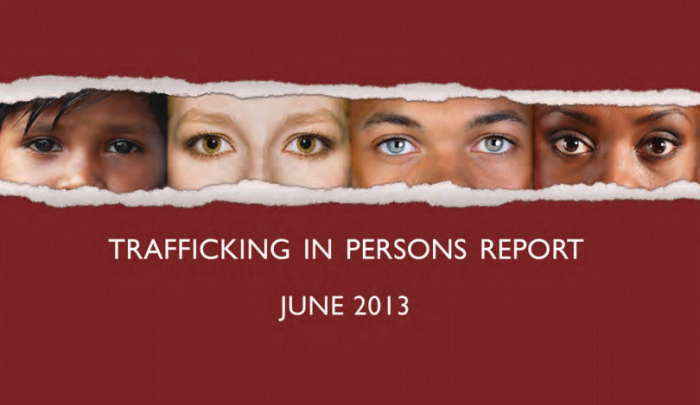 2013 State Dept. Trafficking in Persons Report - cover