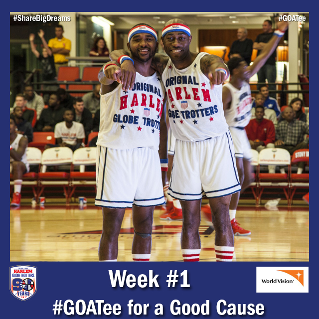 This November, the Harlem Globetotters partner with World Vision for the #GOATee for a Good Cause Campaign.