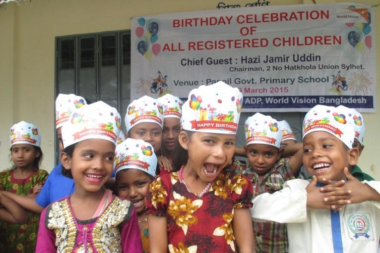 Help the children in your sponsored child's community know they're special with a birthday celebration.