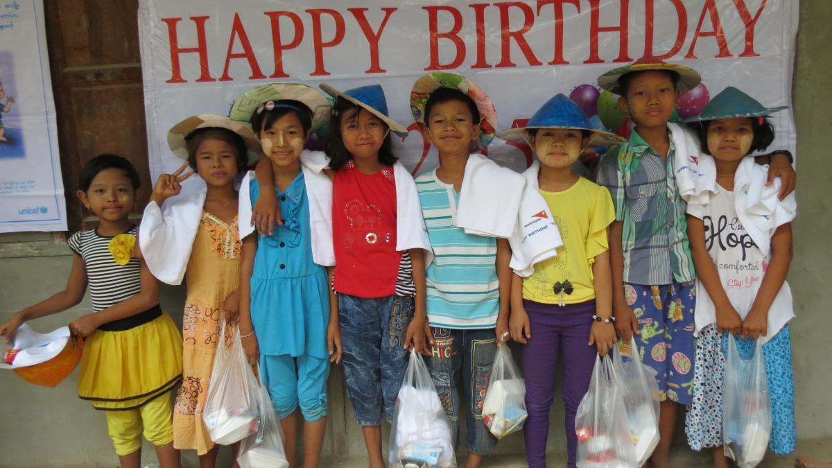 sponsored children in Vietnam celebrate birthdays