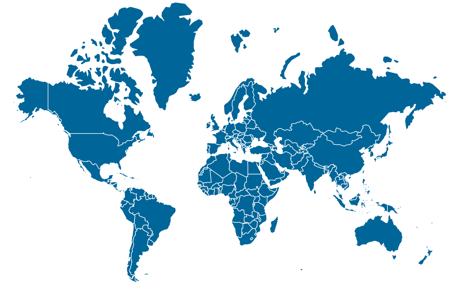 blue and white world map