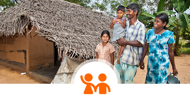 Gender equality - men and women working together, family, empowering women ©World Vision