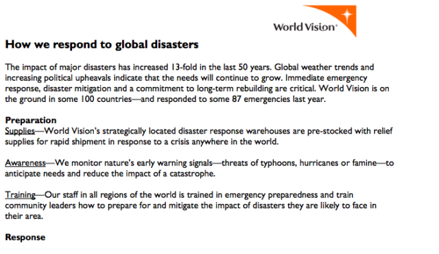 How we respond to global disasters (PDF)