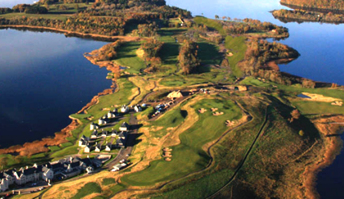 Aerial view of the Lough Erne Golf Club resort, site of the G8 summit in Ireland. Courtesy www.link2ireland.com.