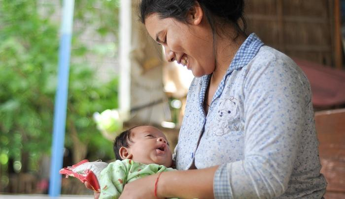 Mother and baby in Cambodia. PHOTO: Ratana Lay/World Vision