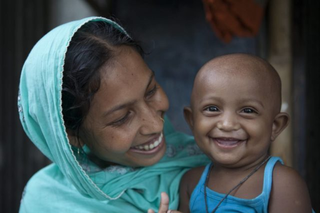 Sonia and her 10-month-old daughter, Anika, have been attending one of World Vision's health programs in Bangladesh. Anika is malnourished, and the program teaches mothers how to cook local, nutritious meals to improve the health of malnourished children and pregnant women. PHOTO: World Vision