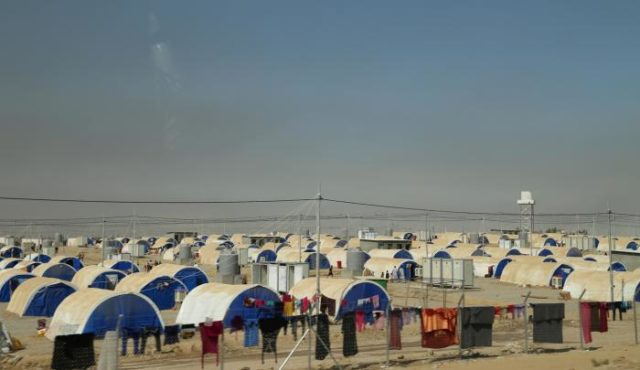 Debaga camp in nothern Iraq is home to people who fled the first wave of Mosul fighting in 2014. World Vision is assisting in the camp. PHOTO: World Vision.