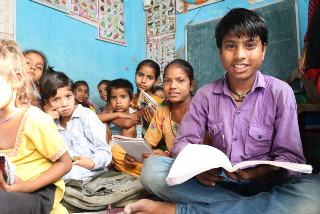 Mohsin, a former child laborer in India, attended a World Vision informal education center.
