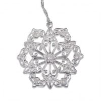 donate and get a silver snowflake christmas ornament