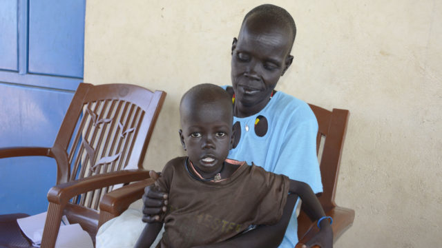 3-year-old girl, severely malnourished, South Sudan