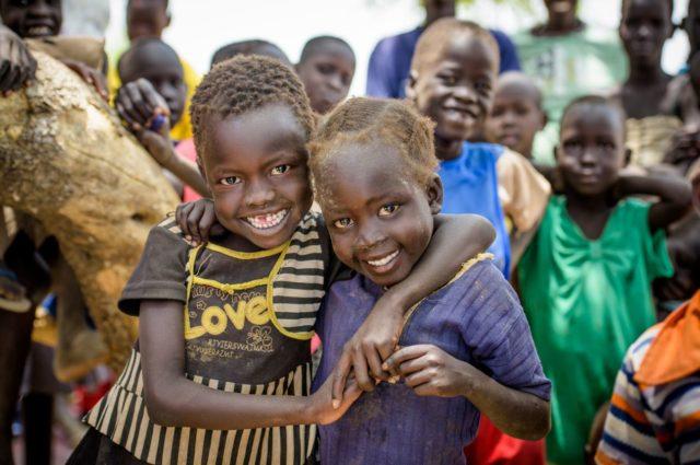 Children in South Sudan near a World Vision project. PHOTO: Jon Warren / World Vision