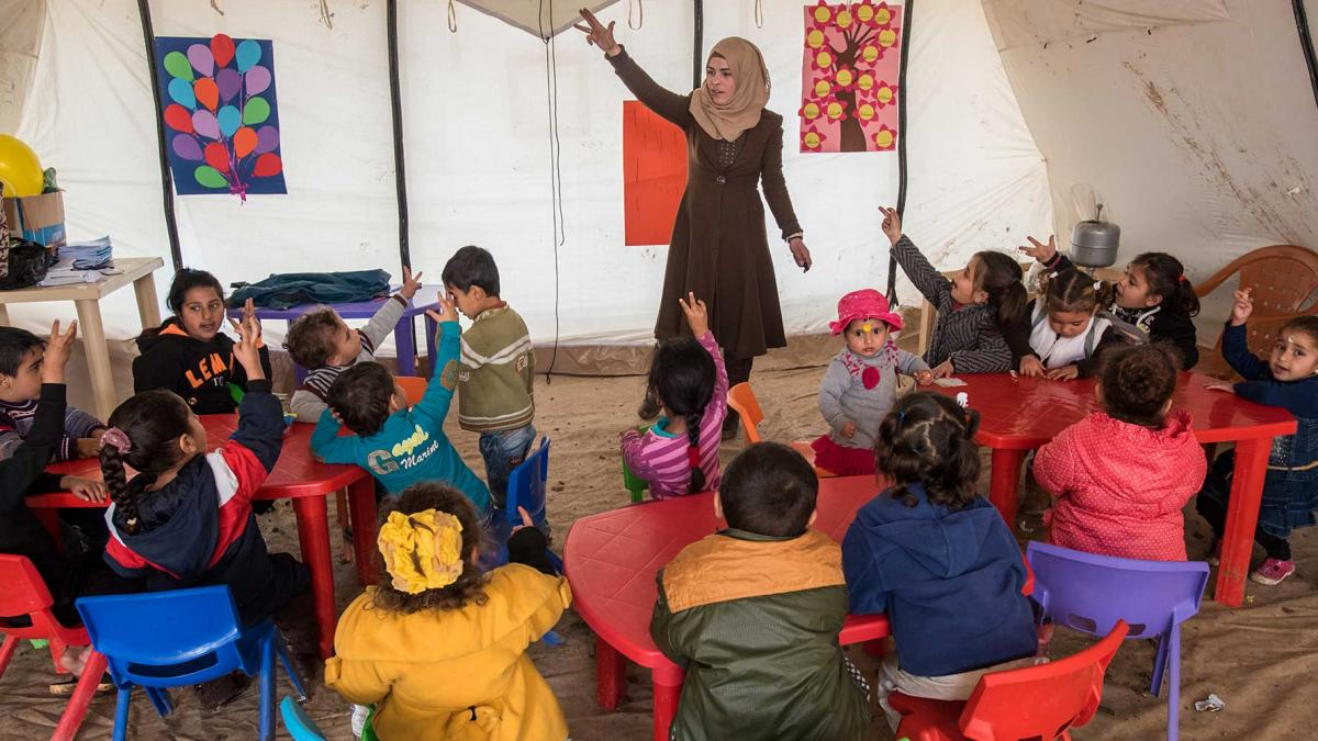 School for Syrian refugee children