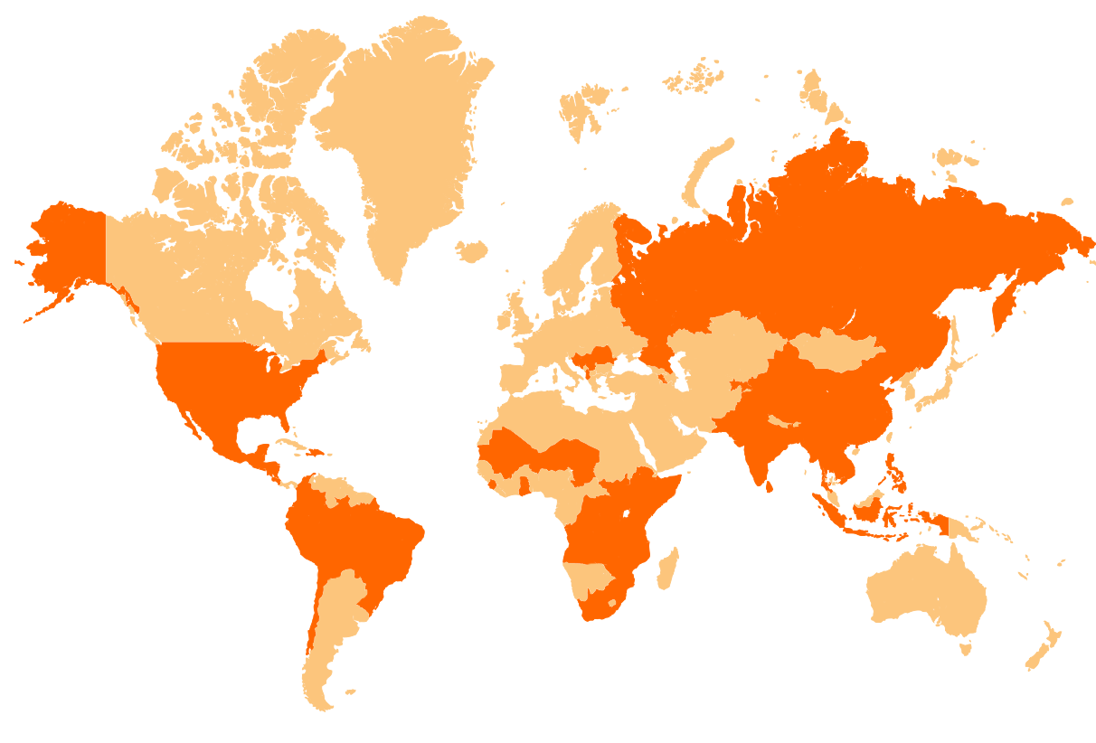 Our work map, where World Vision works